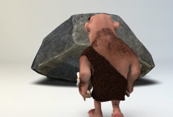 create Homosapien Stone Revealing Logo Intro