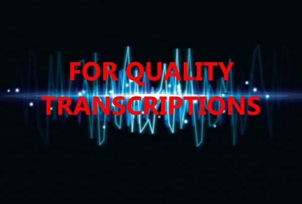 transcribe 10 mins of audio