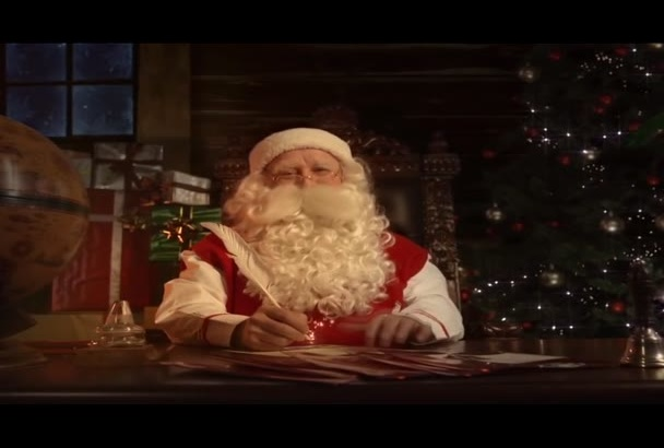 have Santa read a Christmas story dedicated to your child