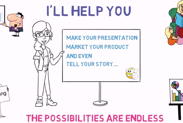 create a Professional WHITEBOARD Animation for you
