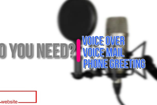 record a voiceover,voice mail,phone greeting