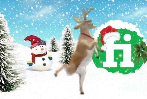 create an awesome Christmas logo promo video