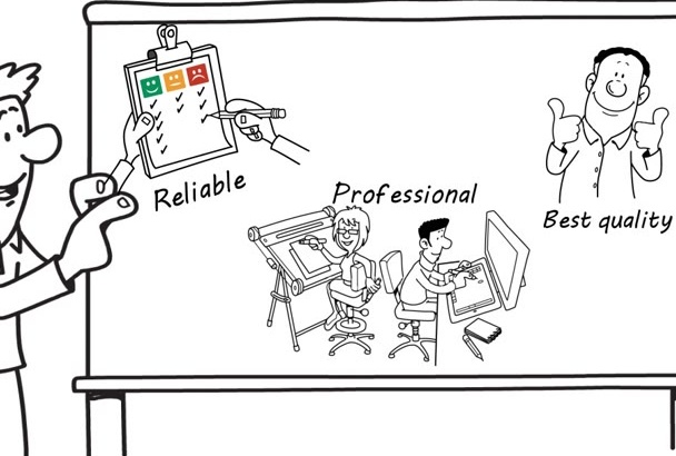 create Professional  whiteboard explainer video on videoscribe