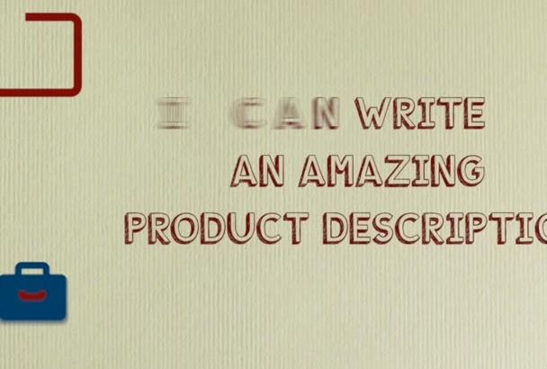 write a brilliant product description in 48hrs