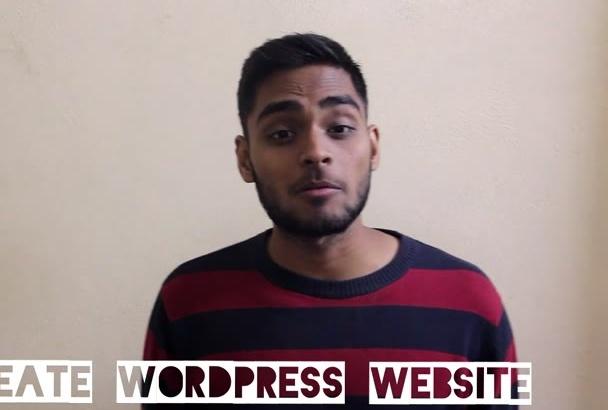 build wordpress website or will be your wordpress developer
