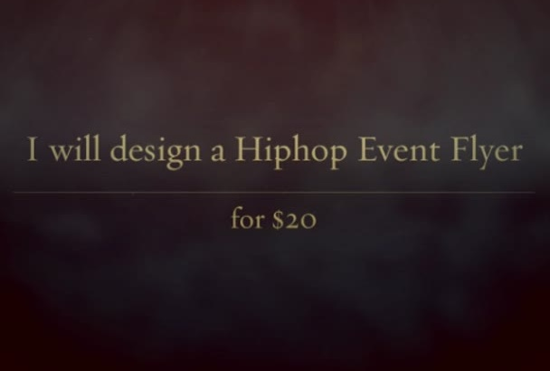 design a flyer for your event