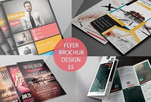 flyer and Brochure design 24 hrs