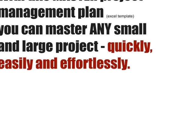 give you a PROJECT Management Master Template