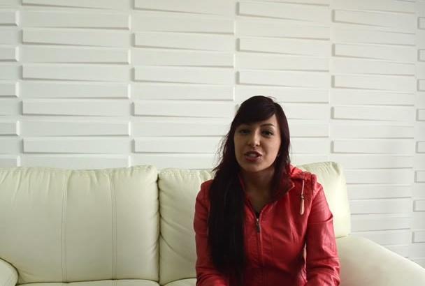 record a natural testimonial video
