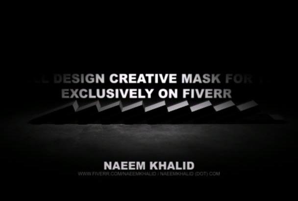 design a creative face mask