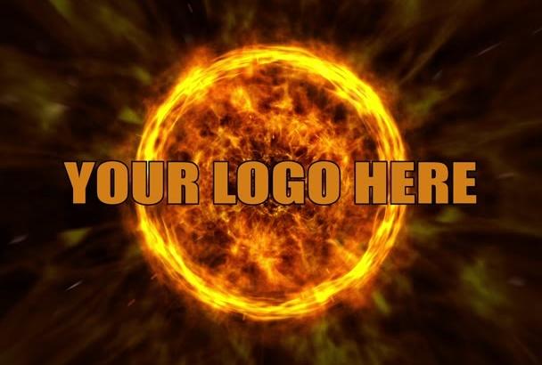 create a professional explosive logo intro
