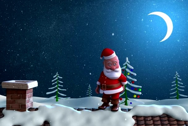 create Awesome Christmas Santa Claus Intro