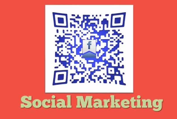 create 1 custom QR Code for single website url or any social media share link