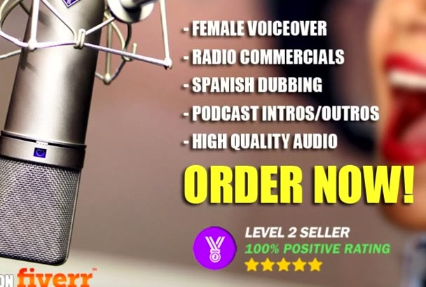 record a professional spanish FEMALE voiceover