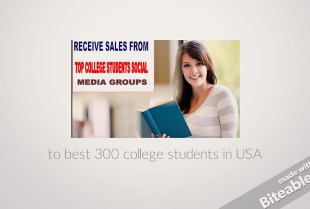 promote your product to 500,000 USA college students