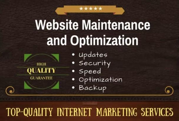 perform important website maintenance and improvement tasks in WordPress