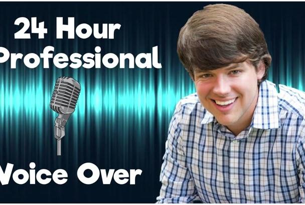 record a Professional North American Male Voice Over