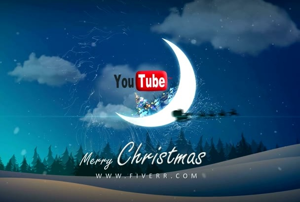 make your logo on amazing Christmas Magic in Moon video