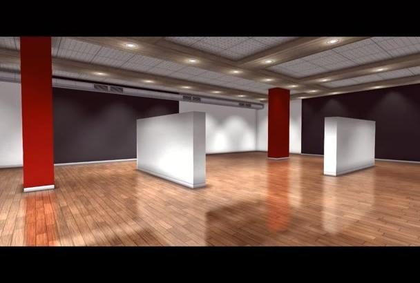 make professional 3d Art gallery video