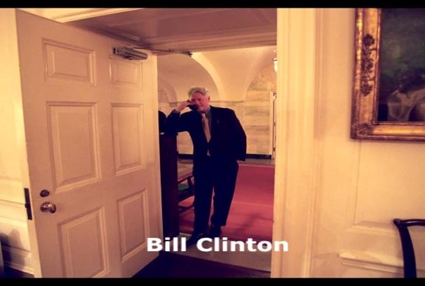 voice your script as Bill Clinton