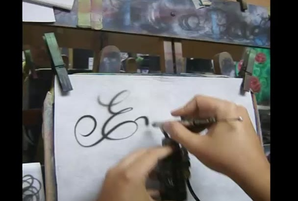write your sign or message with an airbrush