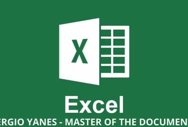 do any job in Microsoft Excel