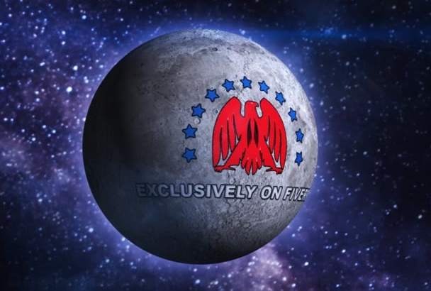place your logo or message on the moving moon in the space