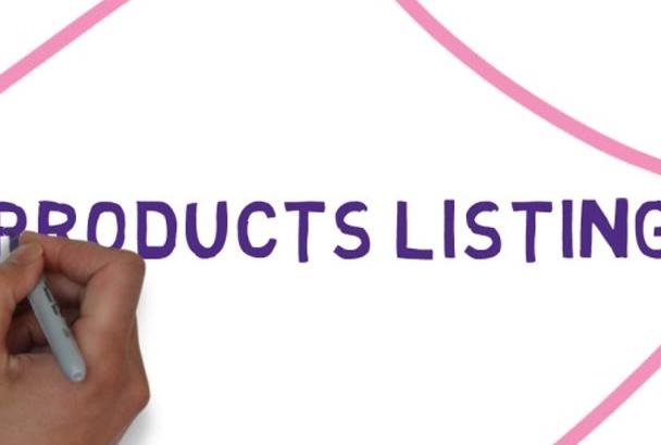 ecommerce product listing and uploading