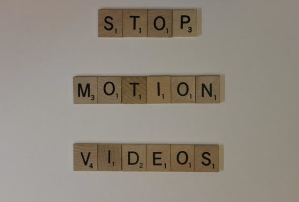 create a cute video with scrabble pieces
