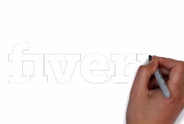make whiteboard animation intro video