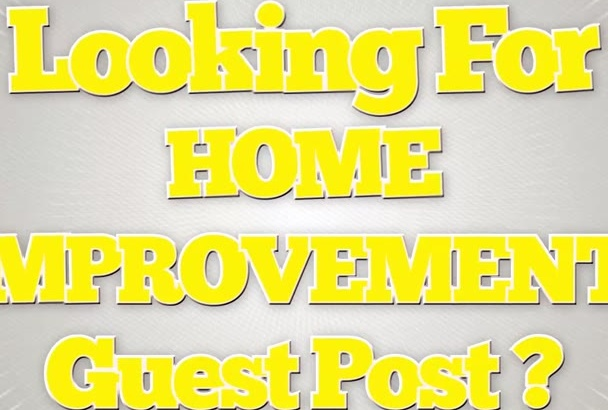 post Your Article On PR 4 Home Improvement Blog