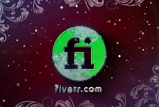 make a 3D Christmas and New Year video with a FROZEN logo
