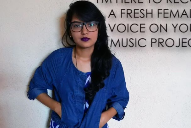 be your female singer on your music project