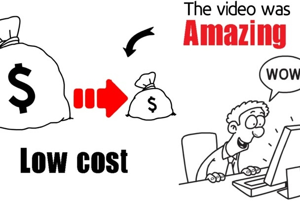 make a 60 sec whiteboard animated videoscribe