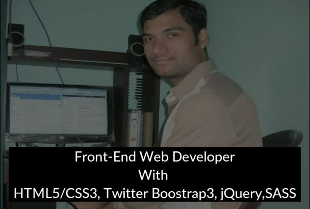 convert PSD to HTML5 CSS3 Bootstrap Fully Responsive Website