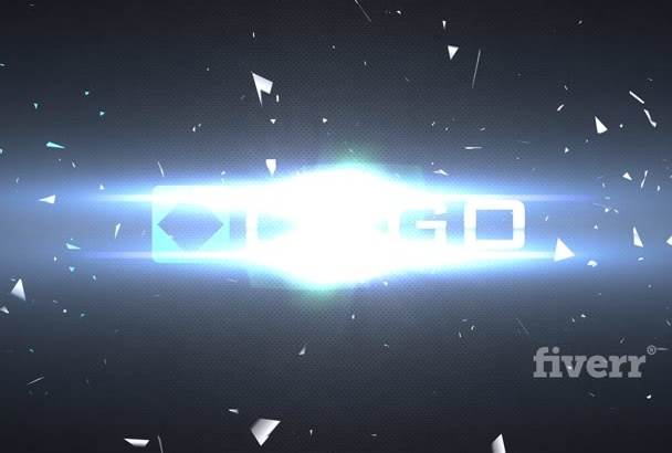 do Slow Motion Logo Shatter Explosion Video Light HD Intro