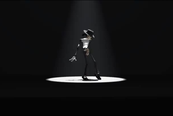 make Micheal Jackson dance and promote your Logo or text