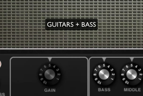 record guitar or bass for your song