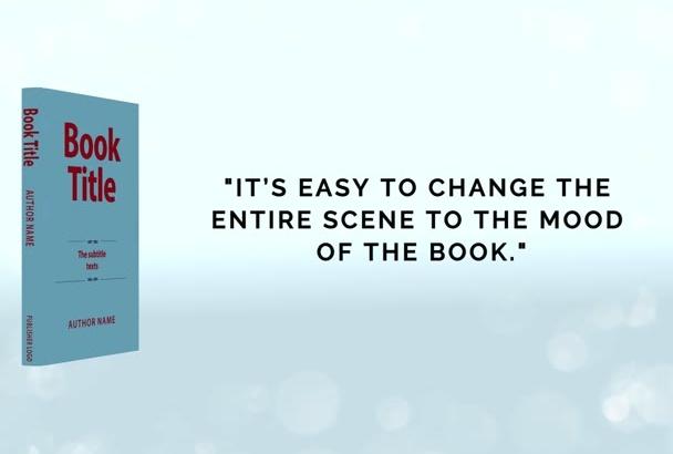 create an animated book 3D trailer video