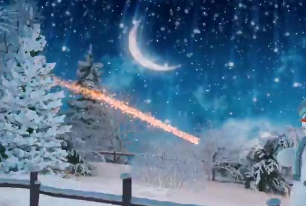 create this amazing snowman Christmas Greetings Video