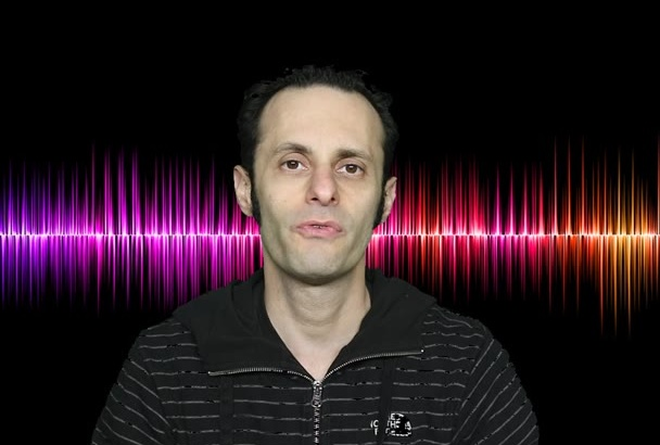 create a professional male voice over or narration voiceover