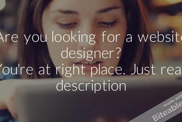 create Professional WordPress website and blog