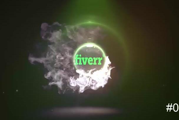 make this smoke logo intro for you