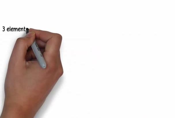 create three promotional whiteboard animation