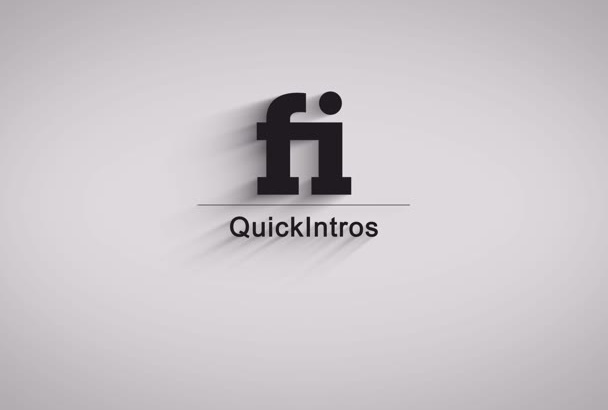 create a quick elegant Intro for your needs