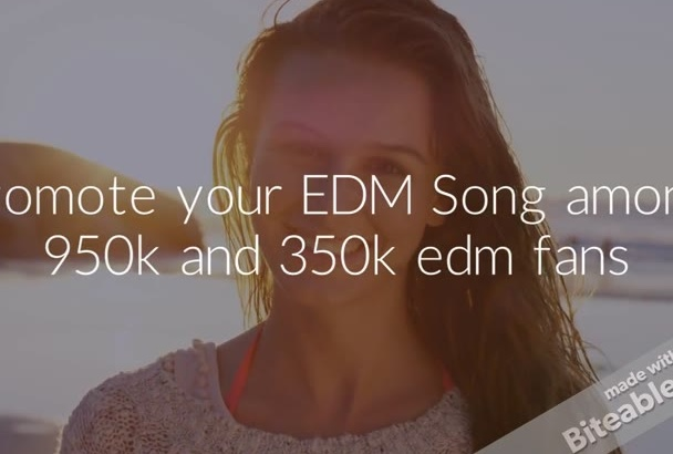 promote your EDM Song among 950k and 350k edm fans