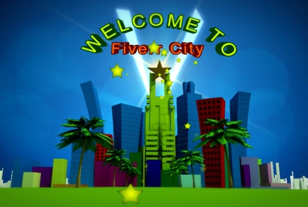 promote logo business all over city 3D animation video
