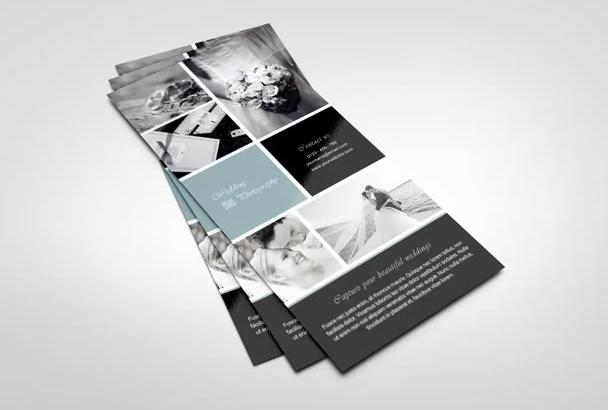 design a modern rack card