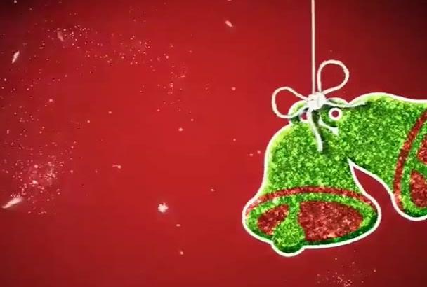 give Christmas intro animation video