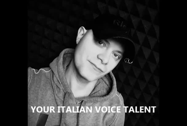 be your official italian voice I am national voice talent